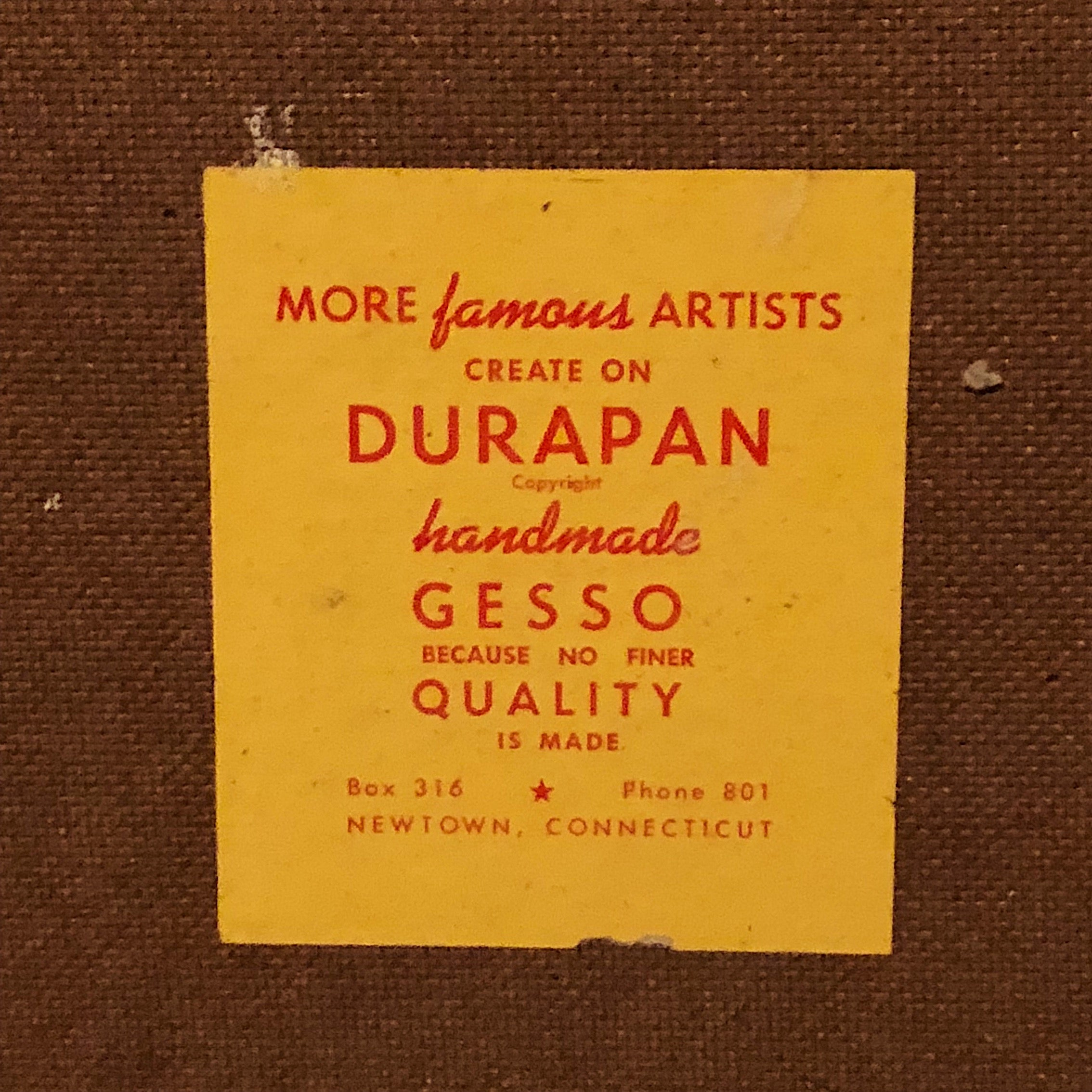 Durapan Reverse Tag on Art Board Panels