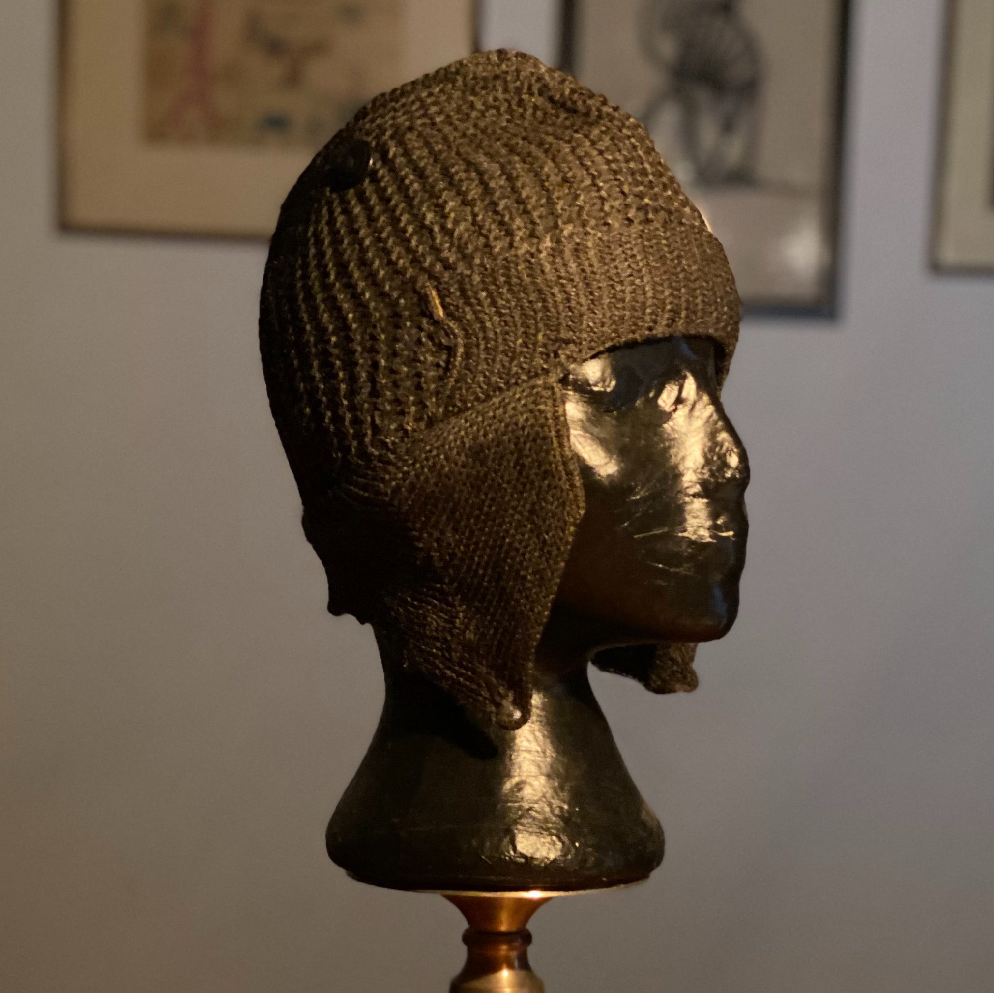 "Rare 1920s Eagleknit Wool Cap | Milwaukee 20 1/2"" Crown"