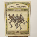 Rare Duluth Marathon Poster from 1982 - Limited Edition Signed Grandma's Marathon Lithograph - 6th Annual Run - 140 of 490 - Old Timey Image Cool