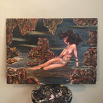 Vintage Surreal Nude Mixed Media Painting | Local Only