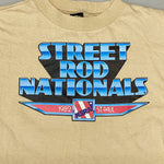 Vintage Street Rod Nationals T Shirt from 1982 - Medium - Saint Paul Minnesota Hot Rod Racing - 1980s Classic Car Clothing