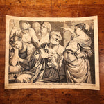 Giovanni Battista Dotti Engraving of The Denial of St. Peter - 1670 - After Lorenzo Pasinelli - Rare Early Etching - 17th Century - Museum
