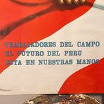 Rare Protest Poster from Peru 1960s? | WPA Style  Revolution Art