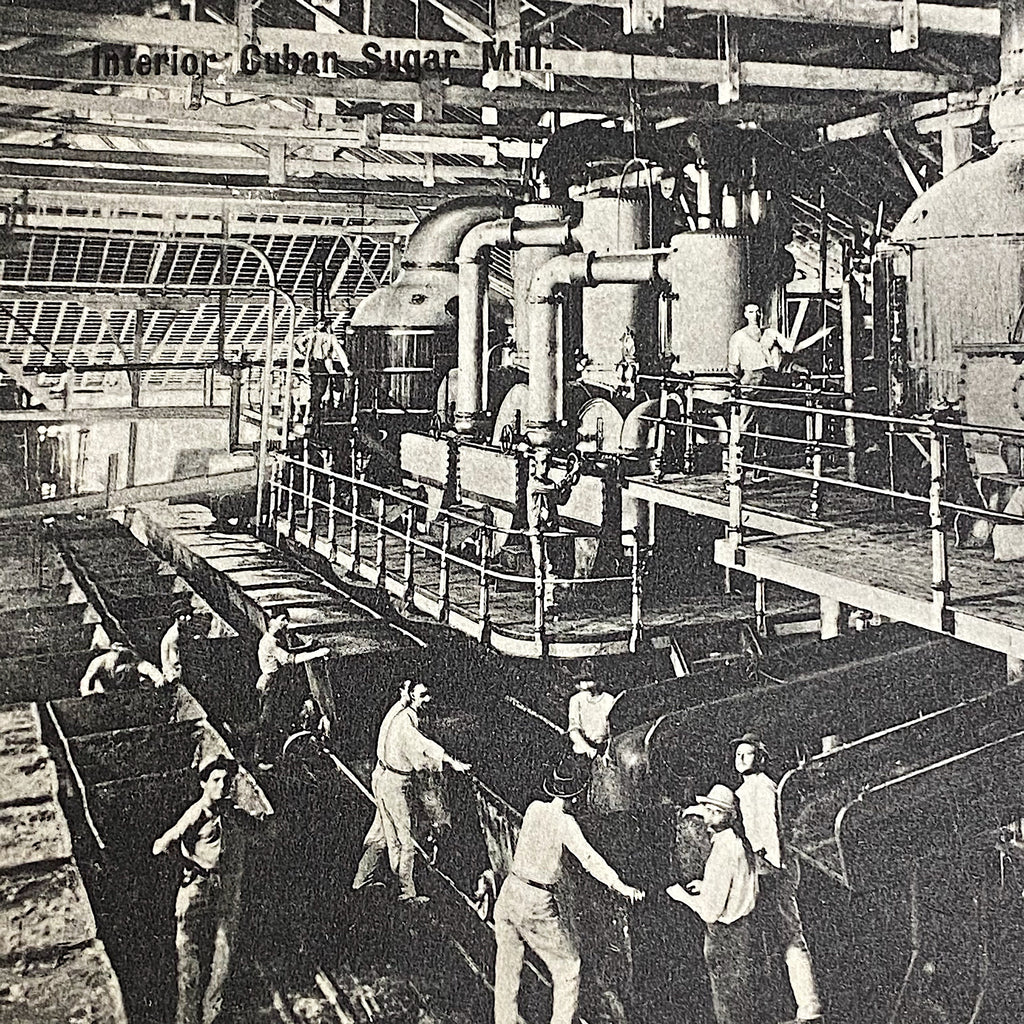 Antique RPPCs of Sugar Mill Operation - Early 1900s - Lot of 5 Postcards - Rare Occupational RPPC - South of the Border Cuba