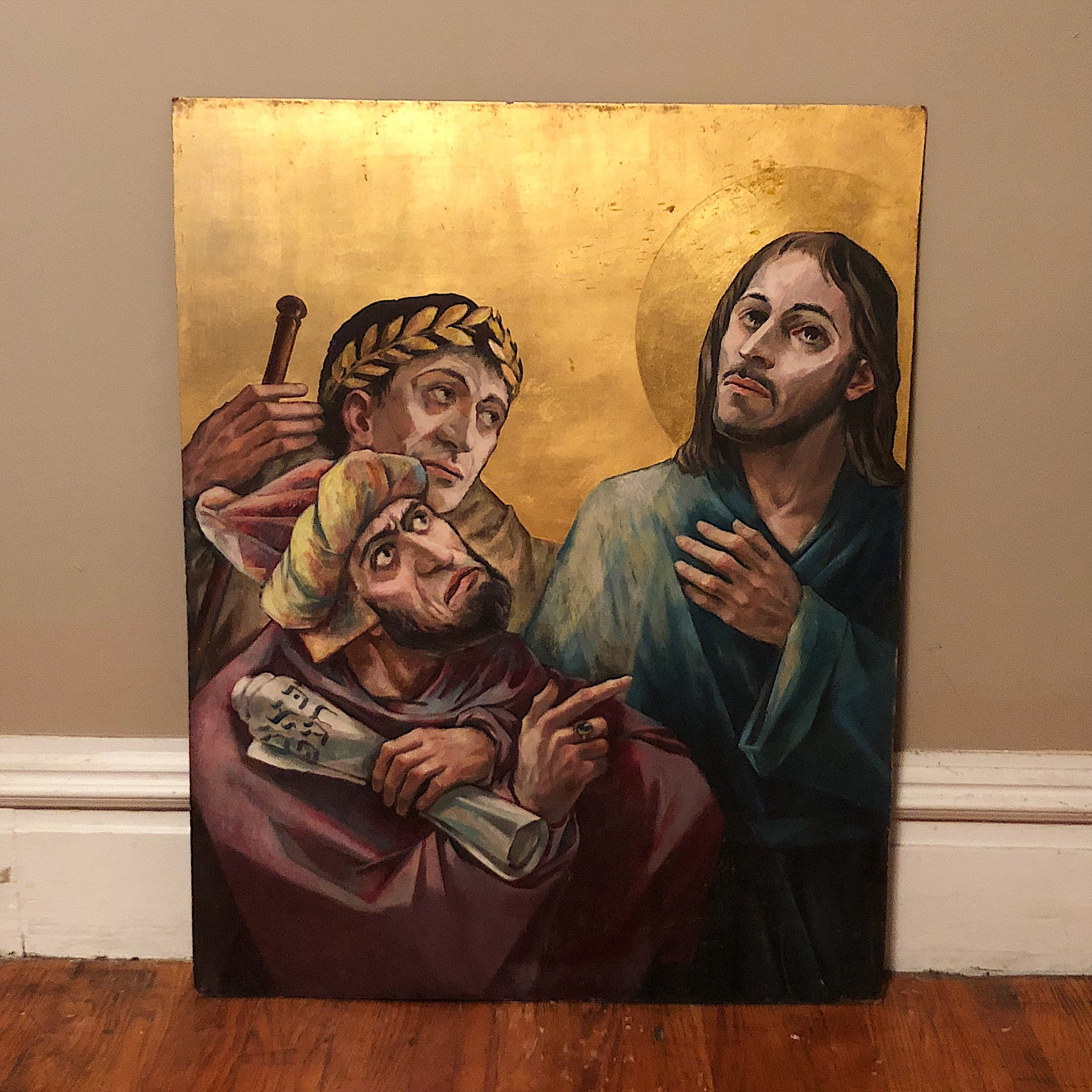 Vintage Panels of Stations of the Cross
