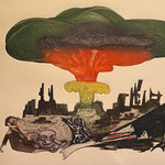 Nuclear Guillermo Silva Santamaria Engraving in Color from 1960 -  Ahora Hay Para Todos - Surreal Scene - Apocalyptic Vision - Rare Surrealist Art