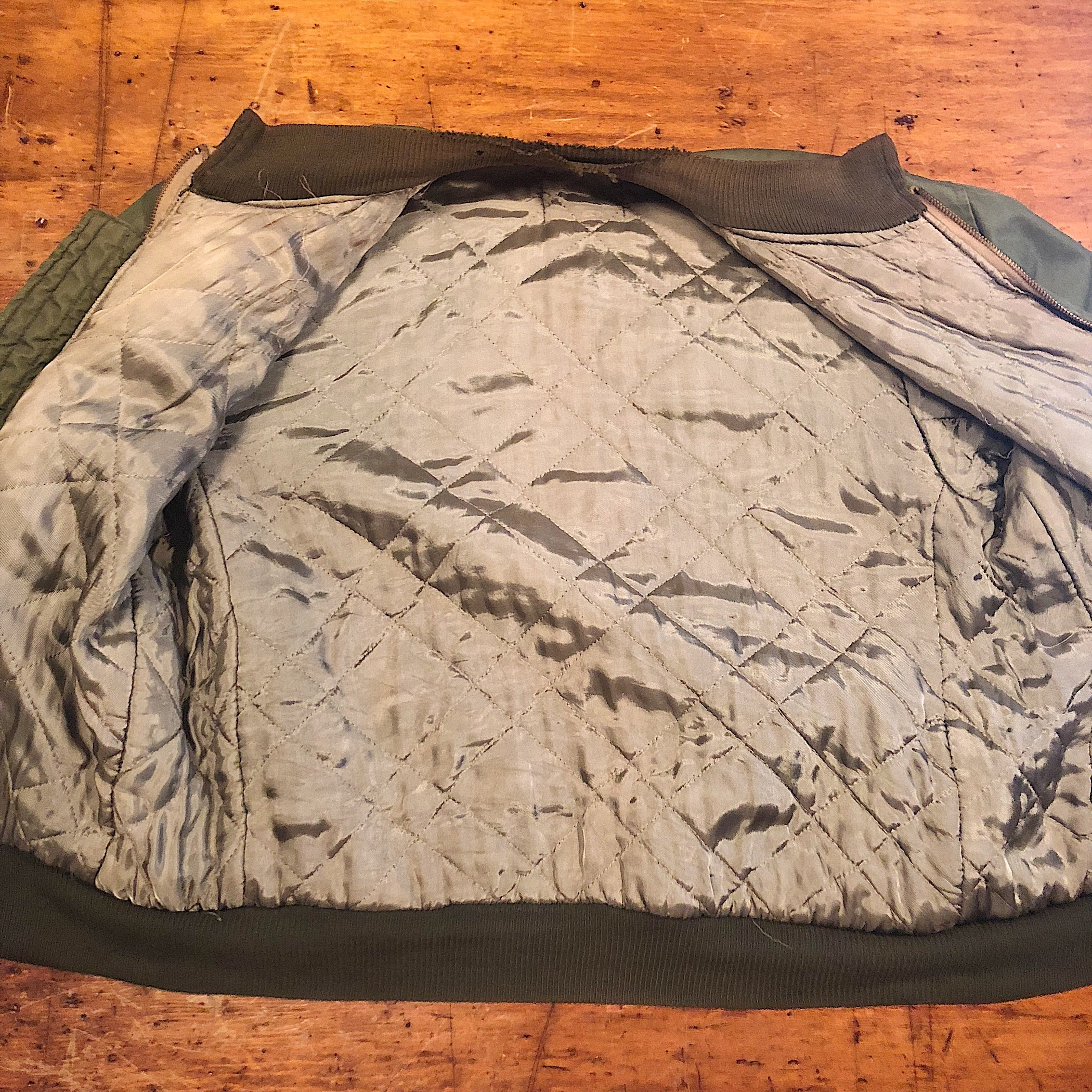 Inner Lining of Authentic WW2 Tanker Jacket