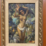 "Roy Keister Nude Painting titled ""Nina"" - 1950s? - Signed by Listed Artist - Vintage Knife Paintings - Illustration Artist - AS IS Illustration"