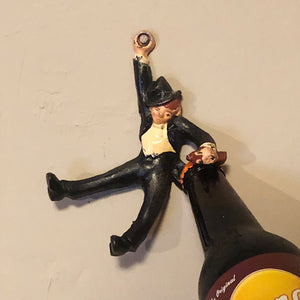 Rare Drunken Bottle Opener - 1950s - Vintage Hand Painted Cast Iron - Humorous Brewerianna - Wall Mount
