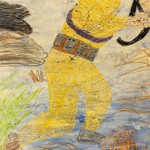 Wilbur T. Bruce Painting on Paper | 1970s Outsider Art