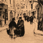 European Etching of Street Scene - Pencil Signed - Limited Run - 29 of 100 - Lana Watermark