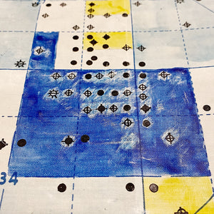 1920s Oil Field Map with Hand Painted Land Rights Grids | Louis W. Hill