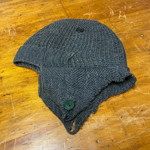 "Rare 1920s Eagleknit Wool Cap - Milwaukee Eskimo Cap  - 20 1/2"" Crown - Rare Antique Headwear - Vintage Clothing - Cool Design - Little Rascals"