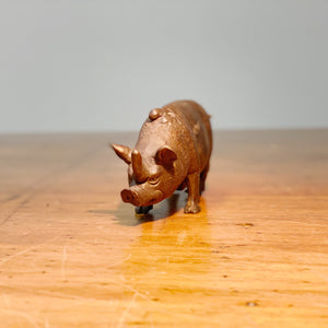 Stephen Maxon Bronze Rhino Pig | 1991 Signed Folk Art