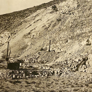 Antique Panoramic Photograph of Inyo Marble Mine | California 1918