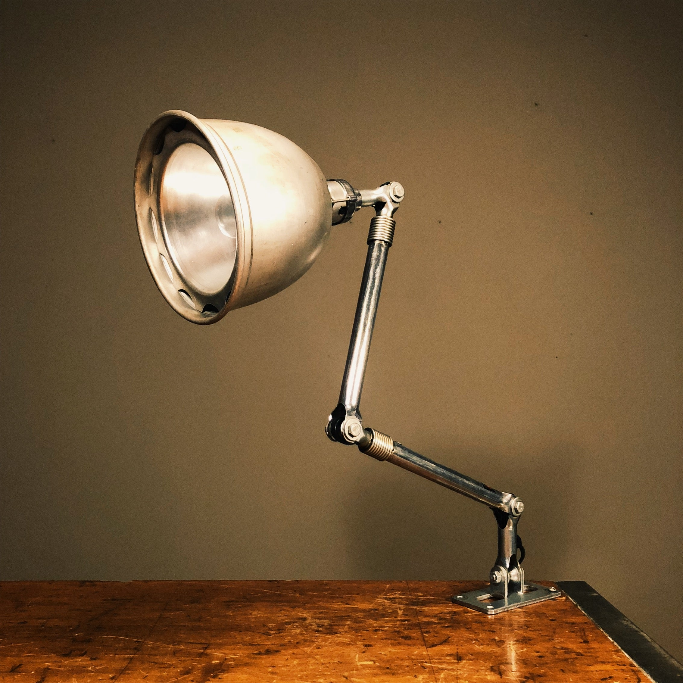 Vintage Ajusco Industrial Light with Insulated Shade and Wall Mount 1