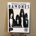 Ramones Poster from Amsterdam Concert - 1987 - Punk Rock Memorabilia - New York Music Scene - Paradiso - European Tour - Joey Ramones