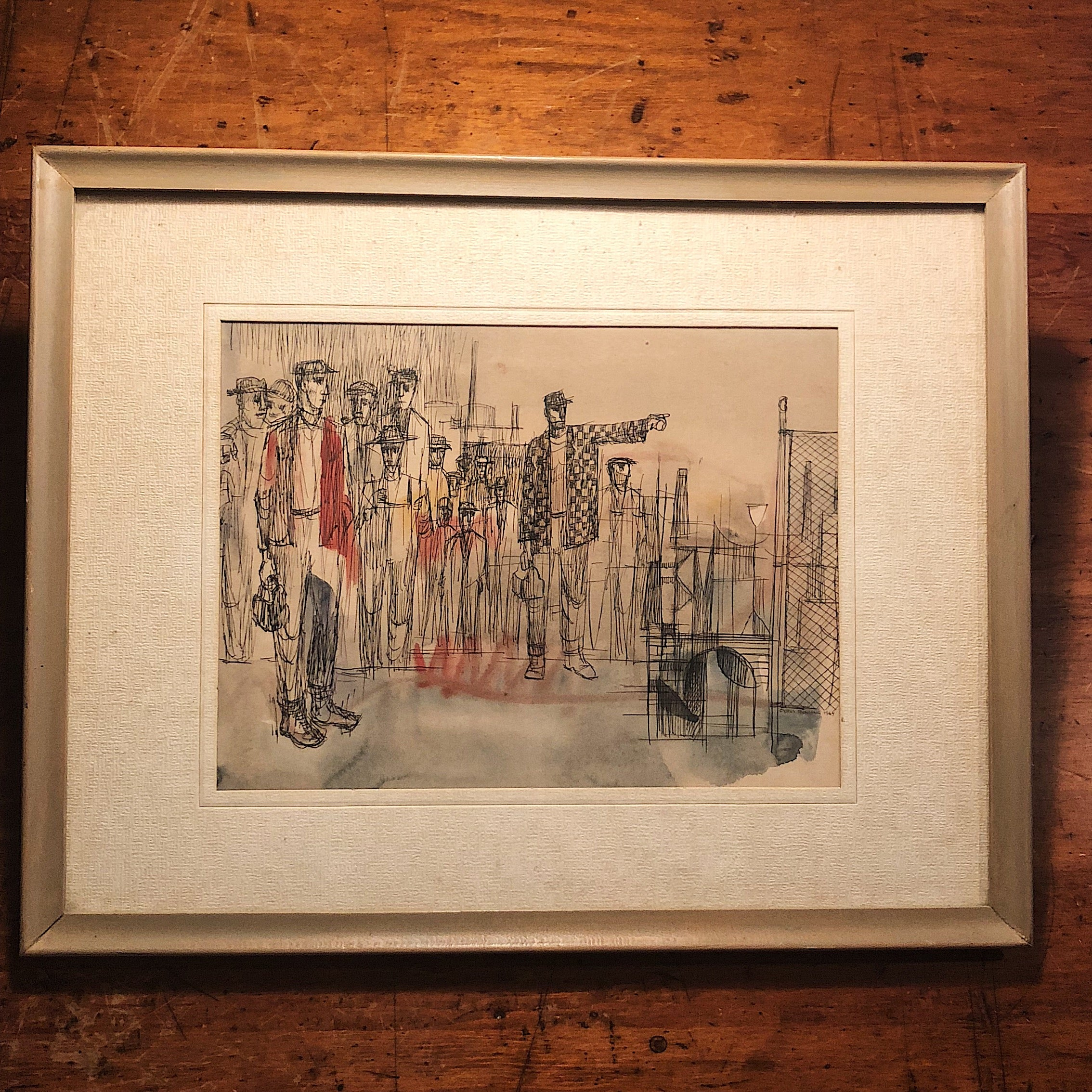 Framed artwork | Cyrus Running Painting from 1965