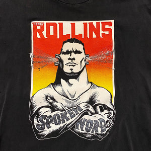 Vintage Henry Rollins Shirt - 1998 - Spoken Word Think Tank - Size Large - Black Flag - Punk Rock Clothing - 1990s Music Shirts - Q Tee Rare