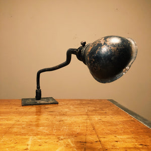 Hubbell Shade - Black Gooseneck Frankenstein Light