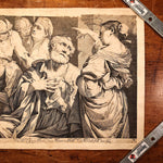 Giovanni Battista Dotti Engraving | The Denial of St. Peter 1670