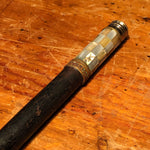 Rare Perfume Cane by Marcel Franck - 1920s - Vintage Atomizer Walking Stick - Mother of Pearl Inlay - Ebony Wood and Brass