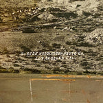Huddleston Photo Co Stamp from Antique Panoramic Photograph of Inyo Marble Mine | California 1918