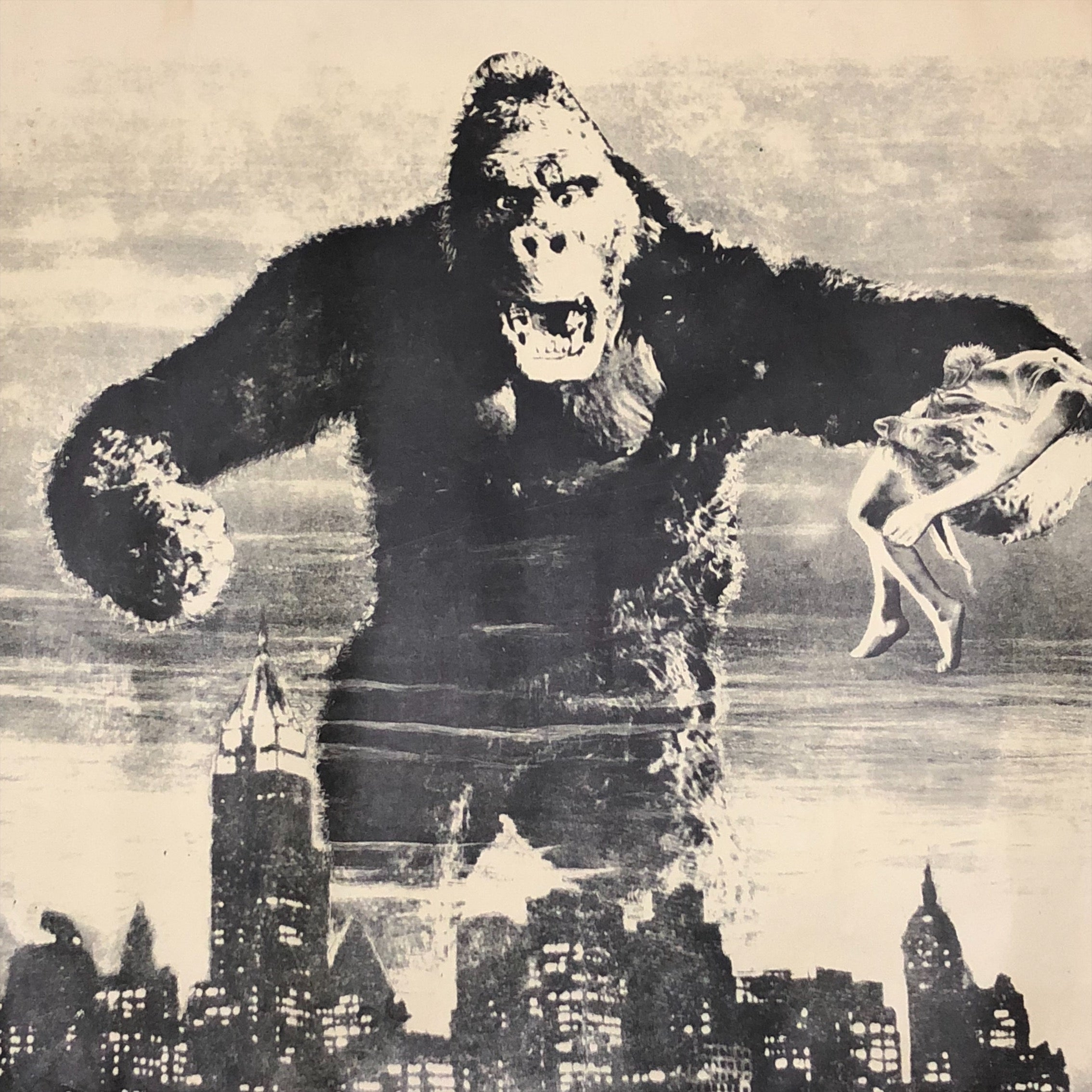 Vintage King Kong Poster from Original 1930s Film - 1960s