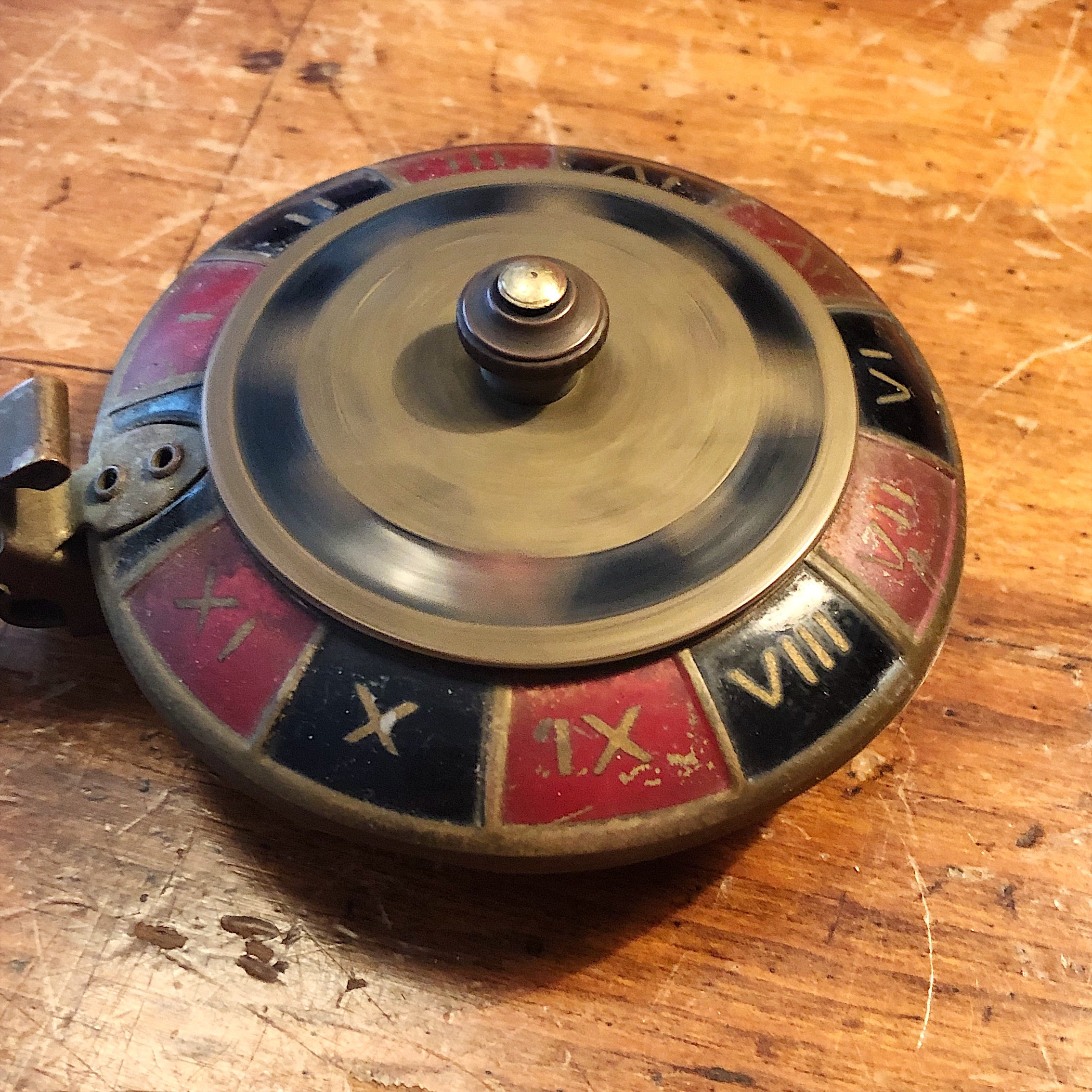Vintage Roulette Ashtray - 1950s - Brass Gambling Collectible - Rare Vintage Tobacciana - Las Vegas Memorabilia