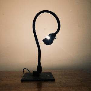 Vintage Industrial Black Gooseneck Frankenstein Light - Snake Design