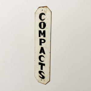 Vintage Compacts Metal Sign from Machine Shop
