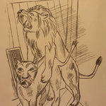 Max Beckmann Signed Lithograph - Lowenpaar - Lion Couple - 1921 - Rare Pencil Signed Limited Edition - Degenerate Art - German Expressionist