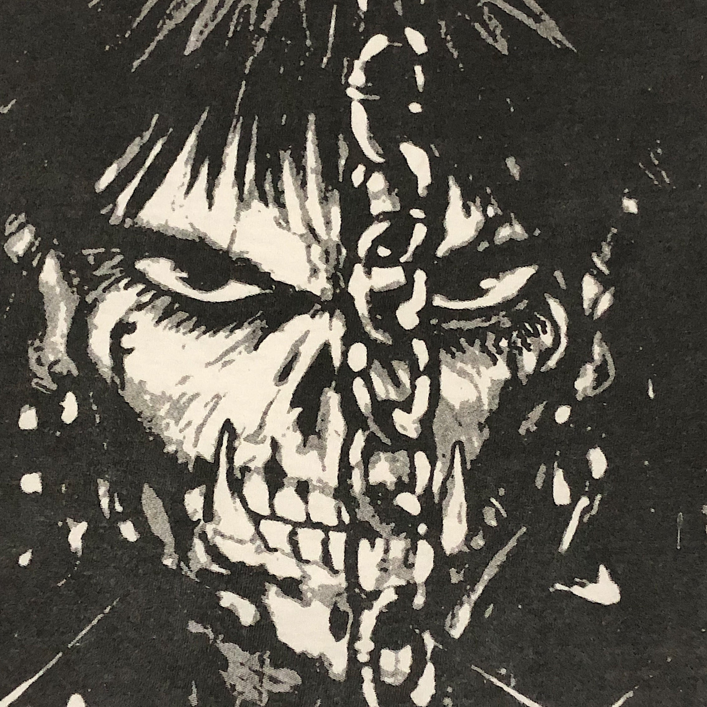 Skull Figure from Vintage Punk Goth T-Shirt from the 90s - XL - The Crow Comic Influence - James O'Barr - Hanes Beefy-T Tag