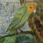 "Vintage Painting of Tropical Parrot Attributed to John Beauchamp - 1950s Oil on Canvas - 13"" x 11"" - Beach Artwork - Folk Art Paintings"