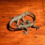 Stephen Maxon Bronze Sculpture of Lizards Eating Tails | Ouroboros
