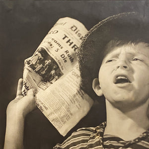 Rare 1939 World's Fair Photograph of Newsboy by Harvey O. Carpenter
