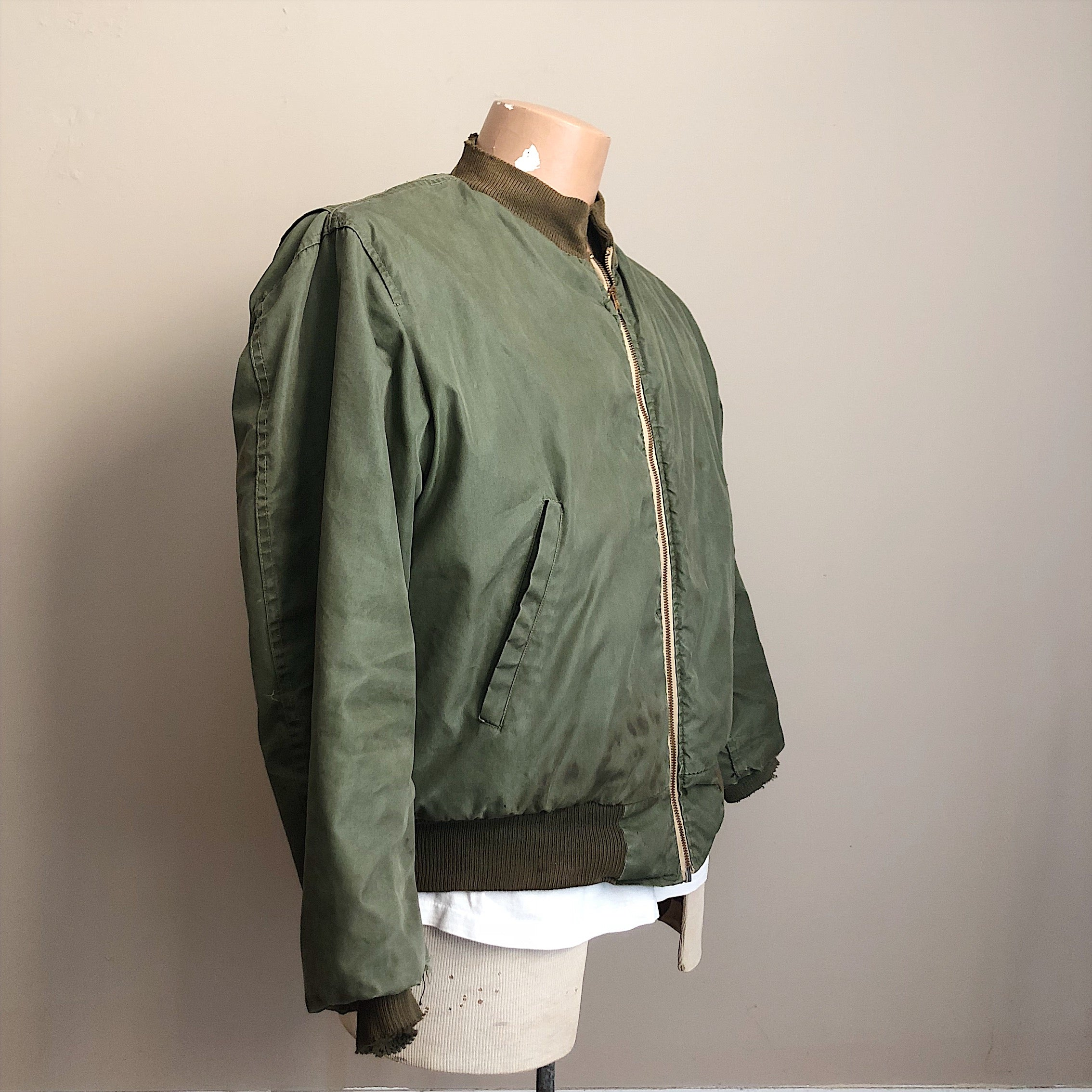 Left side view of Authentic WW2 Tanker Jacket