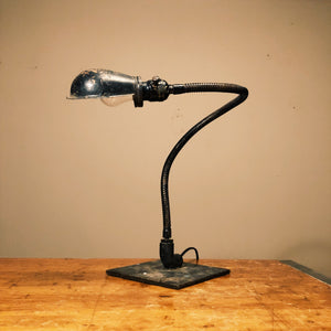 Black Gooseneck Frankenstein Light with Snake Design