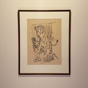Max Beckmann Signed Lithograph - Lowenpaar - Lion Couple - 1921 - Rare Pencil Signed Limited Edition - Degenerate Art - German Expressionism