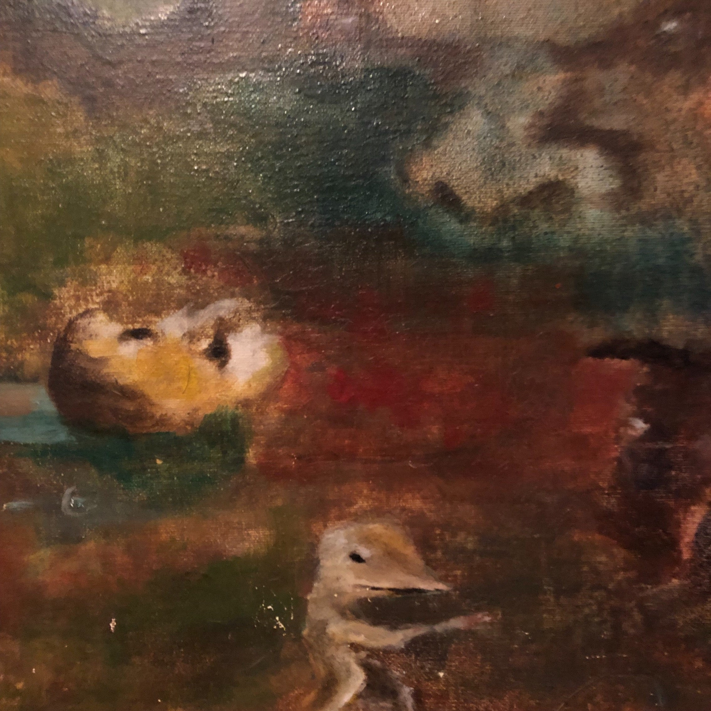 Vintage Surreal Painting from 1960s - Outsider Art - Christopher Charles - Surrealist Landscape - Rare Unusual Artwork