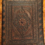 Antique Leather Portfolio Cover with Tooled Ornate Design - Continental School Manuscript Cover - 1800s - Arts and Crafts - 19th Century