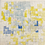 "Rare 1920s Oil Field Map with Hand Painted Land Rights Grids - Louis W. Hill Estate - 53"" x 37"" - Huge Wall Art - Early Data Visualization"