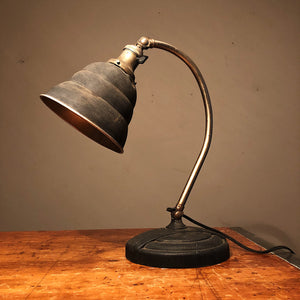 Vintage Industrial Articulating Desk Lamp - General Electric - Rare Art Deco Light - Decor - Black and Tan