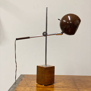 Vintage Eyeball Telescoping Table Lamp | 1950s Midcentury