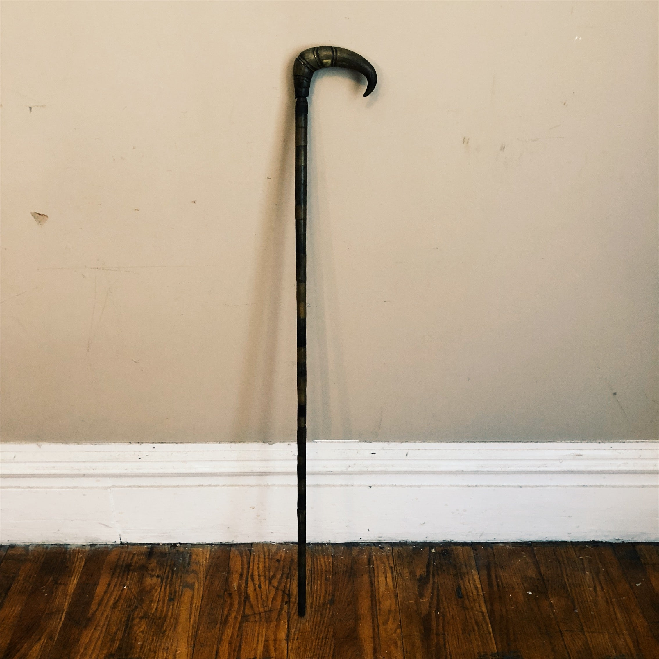 Stacked Horn Walking Cane
