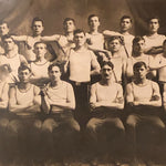 Large Antique Photograph of Military Academy Team - West Point WW1 Era - Fencing? - Early 1900s - 25 x 21 - Rare Unusual Tiger Frame