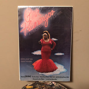 Original Pink Flamingos Mini Poster from 1973 - 11 x 17 - John Waters - Notorious Underground Film - Rare 1970s Cult Movie