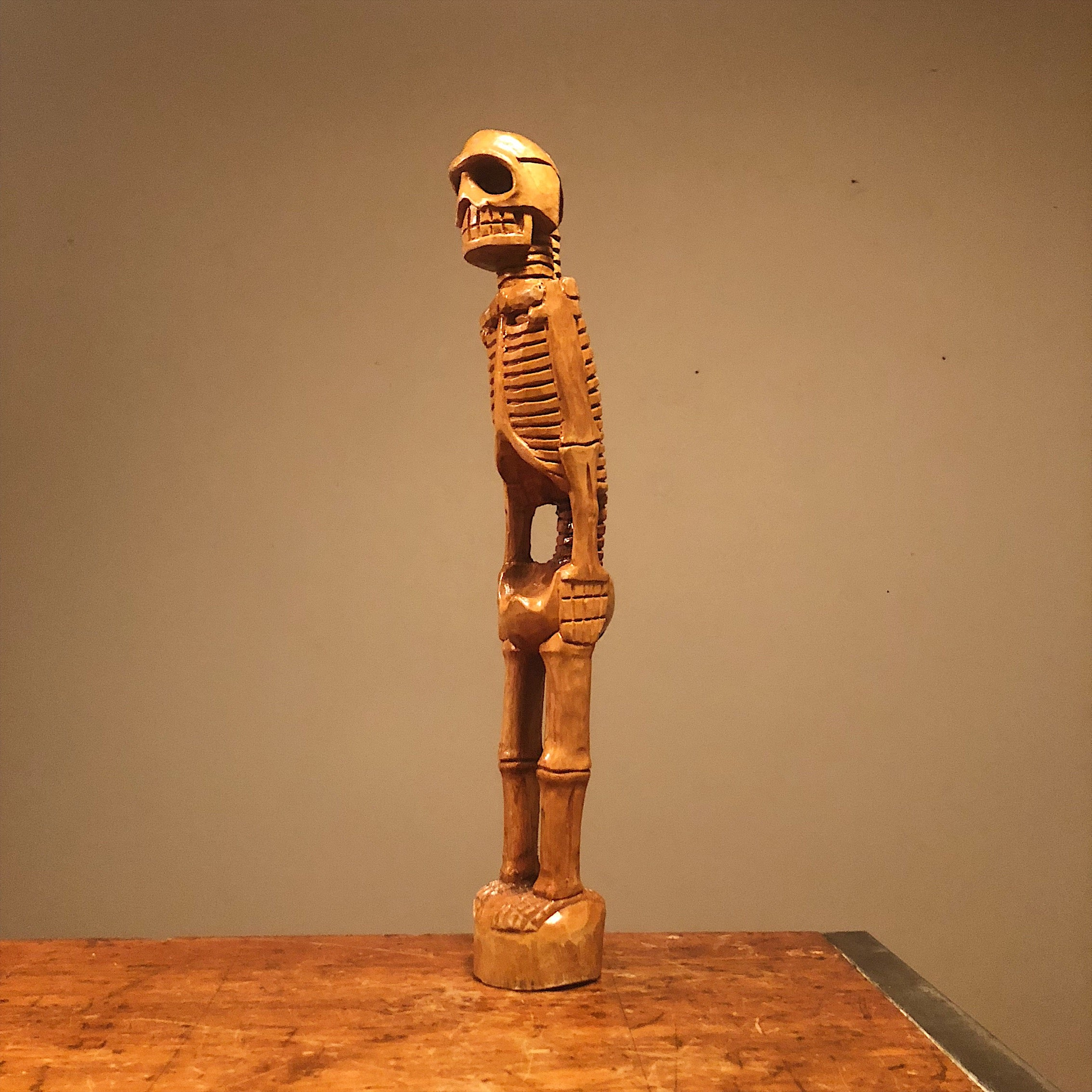 Skeleton Wood Sculpture from 1960s