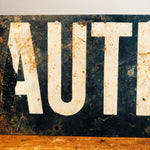 Middle Front of Vintage Caution Railroad Sign