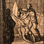 Louis Du Guernier Etching of Beheading and Man with an Axe -Early 1700s - Morbid Print